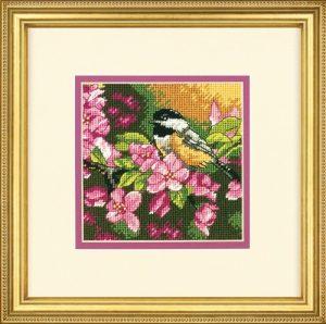 Набор для вышивания DIMENSIONS «Пташка в розовом»