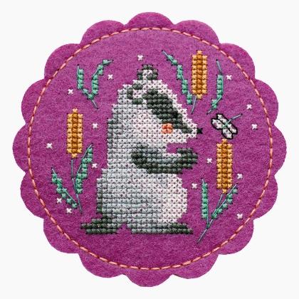Набор для вышивания Дивная вишня «Барсук»