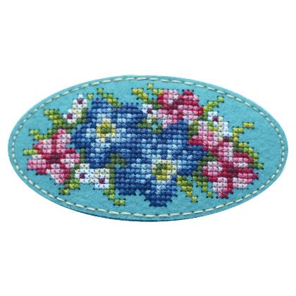 Набор для вышивания Дивная вишня Заколка «Экзотический букет»
