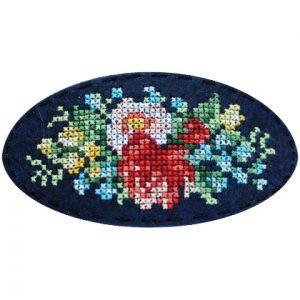 Набор для вышивания Дивная вишня Заколка «Винтажный букет»