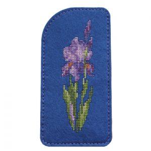 Набор для вышивания Дивная вишня Очечник «Нежный ирис»