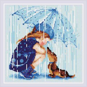 Алмазная мозаика Риолис «Дождик»