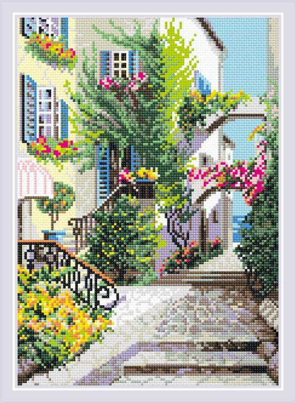Алмазная мозаика Риолис «Итальянский дворик»