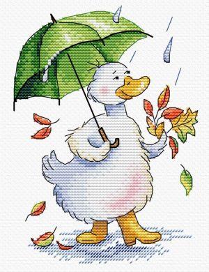 Набор для вышивания М.П. Студия «Дождливый променад»