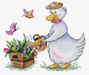 Набор для вышивания М.П. Студия «Садовые заботы»