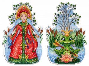 Набор для вышивания на пластиковой канве ЖАР-ПТИЦА «Царевна-лягушка»
