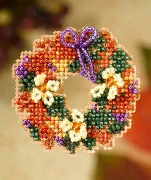 Набор для вышивания бисером MILL HILL «Венок из осенних листьев»