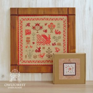 Набор для вышивания OwlForest «Птичка-пава»