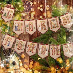 Буклет для вышивания флажков OwlForest «С Новым годом!»