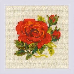 Набор для вышивания крестом Риолис «Розочка»
