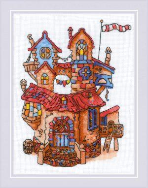 Набор для вышивания крестом Риолис «Сказочный домик»