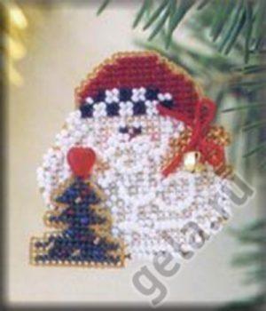 Набор для вышивания бисером MILL HILL «Санта с колокольчиком»