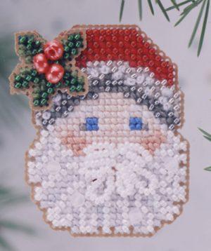 Набор для вышивания бисером MILL HILL «Санта с рождественской омелой»