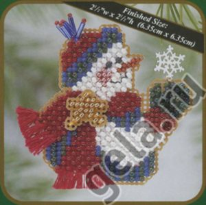 Набор для вышивания бисером MILL HILL «Снежинка и снеговик»