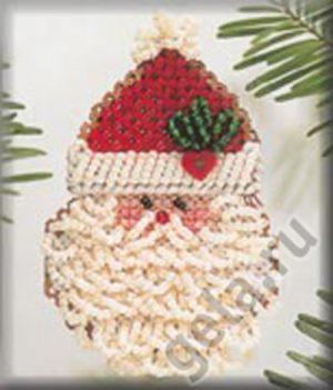 Набор для вышивания бисером MILL HILL «Кудрявый Дед Мороз»