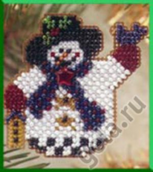 Набор для вышивания бисером MILL HILL «Снеговичок с птичкой»