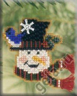 Набор для вышивания бисером MILL HILL «Снеговик-весельчак»