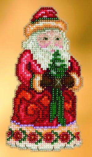 Набор для вышивания бисером MILL HILL «Рождественское приветствие Санты»