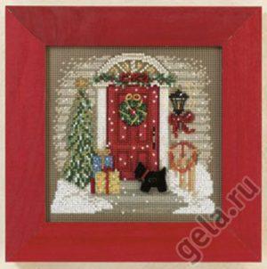 Набор для вышивания бисером MILL HILL «Дом в Рождество»