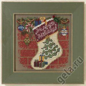 Набор для вышивания бисером MILL HILL «Новогодний чулок»