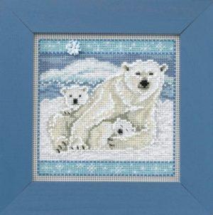 Набор для вышивания бисером MILL HILL «Белые медведи»