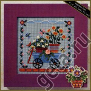 Набор для вышивания бисером MILL HILL «Тележка с цветами»