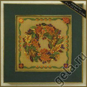 Набор для вышивания бисером MILL HILL «Осенний венок»