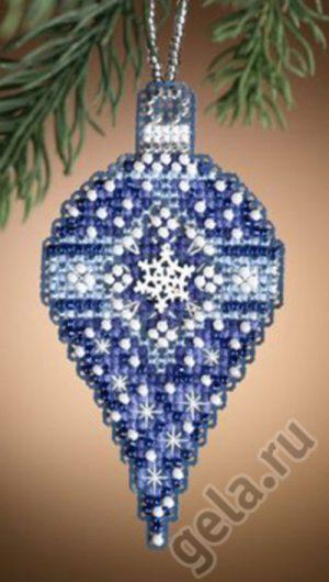 Набор для вышивания бисером MILL HILL «Сапфировый снег»
