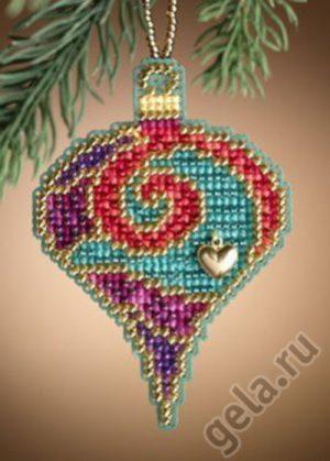 Набор для вышивания бисером MILL HILL «Гранатовая спираль»