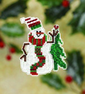 Набор для вышивания бисером MILL HILL «Улыбающийся снеговик»