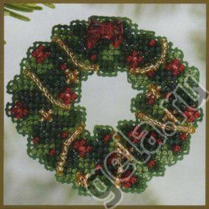 Набор для вышивания бисером MILL HILL «Рождественский венок»