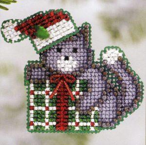 Набор для вышивания бисером MILL HILL «Подарок Китти»