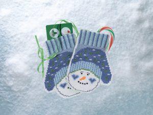 Купить набор для вышивания бисером MILL HILL «Варежки Снеговика» MH191831