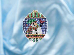 Набор для вышивания бисером MILL HILL «Привет от снеговика»