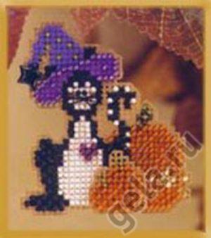 Набор для вышивания бисером MILL HILL «Кошечка в шляпе»