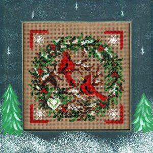 Набор для вышивания бисером MILL HILL «Кардиналы с венком»