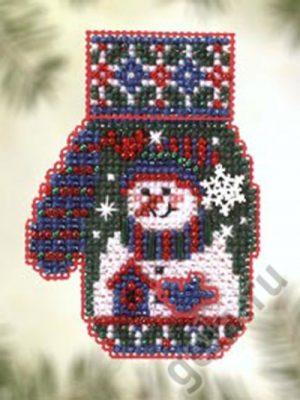 Набор для вышивания бисером MILL HILL «Снеговичок»
