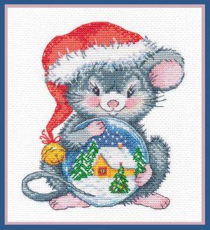 Набор для вышивания Овен «Мышонок с шаром» ov1254