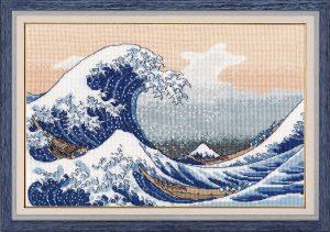 Набор для вышивания Овен «Большая волна в Канагаве»