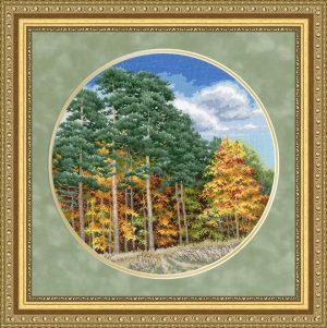 Набор для вышивки крестом Золотое Руно «Осенний лес»