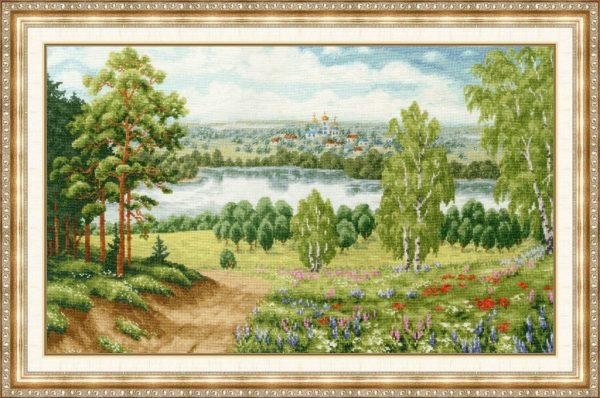 Набор для вышивки крестом Золотое Руно «Моя Россия»