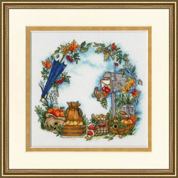 Набор для вышивки крестом Золотое Руно «Осенние письма»