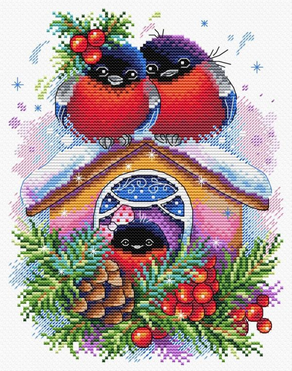 Набор для вышивания М.П. Студия «Зимний домик»