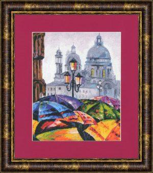 Набор для вышивки крестом Золотое Руно «Городская радуга»