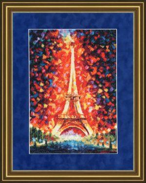Набор для вышивки крестом Золотое Руно «Ночной Париж»