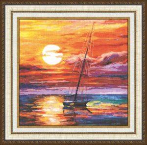 Набор для вышивки крестом Золотое Руно «На закате»