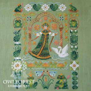 Набор для вышивания OwlForest «Лягушки-царевны»