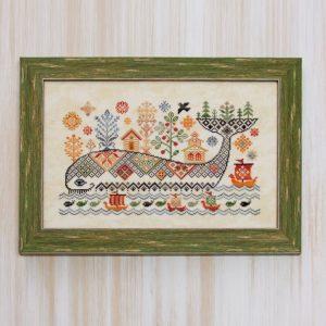 Набор для вышивания OwlForest «Чудо-юдо-рыба-кит»