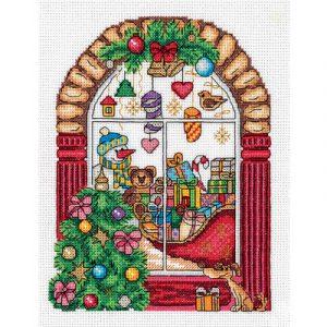 Набор для вышивания KLART «Новогодняя витрина»