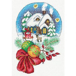 Набор для вышивания KLART «Снежный шар»